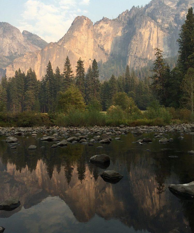 mountain lake, reflection, mountains