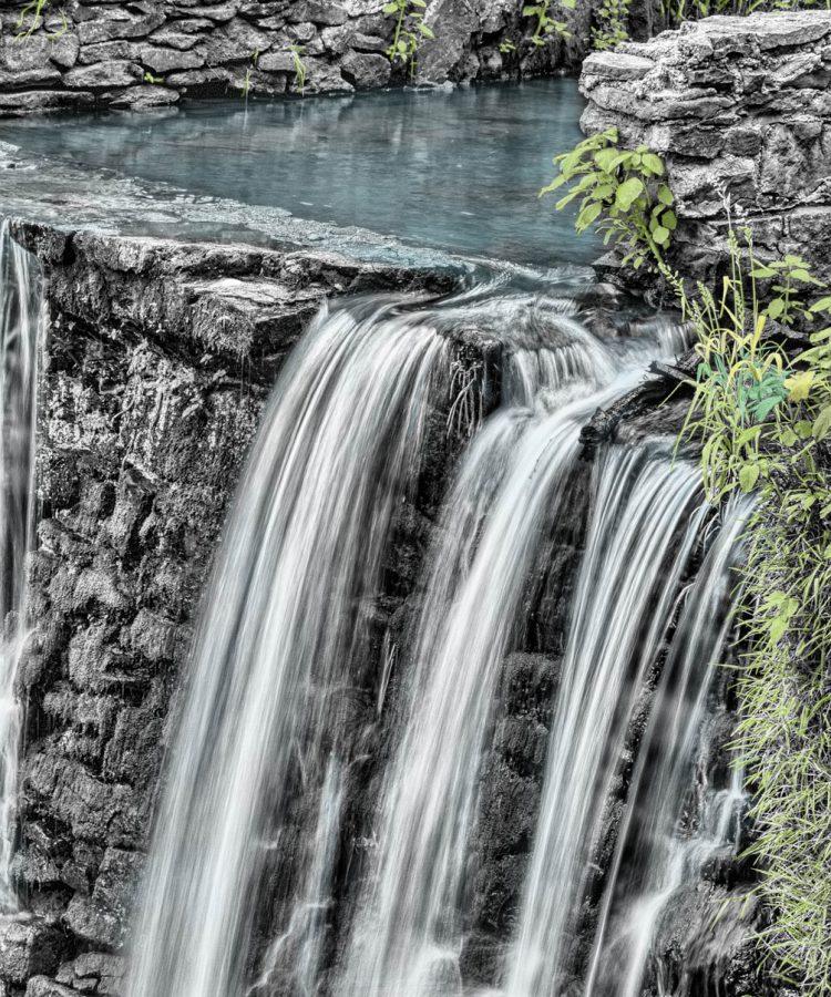 waterfalls, river, nature